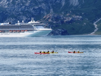 cruise ship does a drive-by