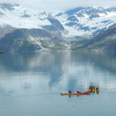 canoes in the fjord