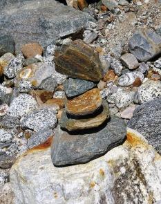 glacial rock totem