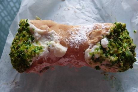 Mike's pistachio cannoli