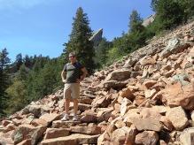 rocky steps leading upwards