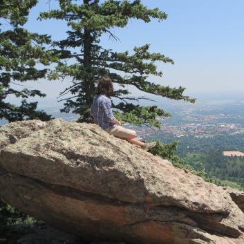 Drew taking in the view below