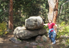 boulders on the trail