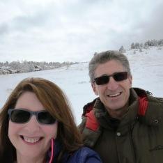 snowy selfie!