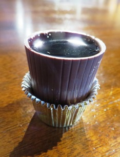 Port in chocolate cup