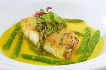 Sea Bass and Asparagus
