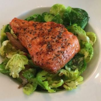 Salmon and Brussels Sprouts